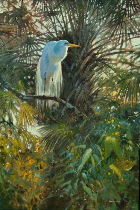 American Egret 24x36