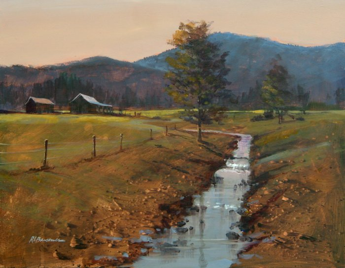 At The foot of the Blue Ridge