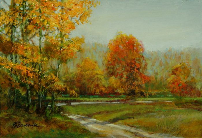 Autumn Orange 6x9