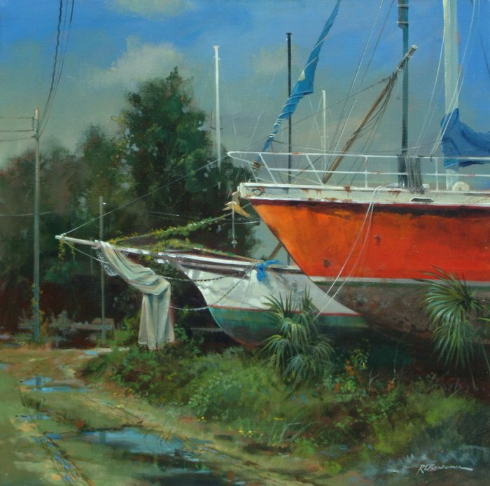 Boat Yard on Riberia Street 30x30