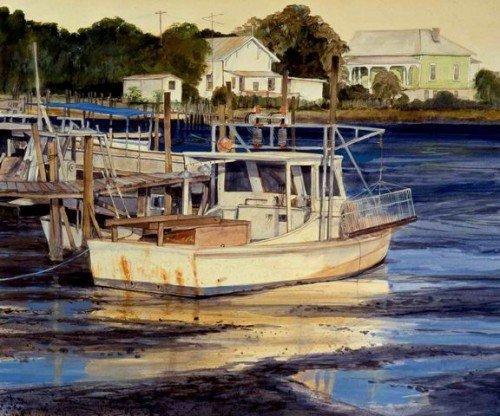 Cedar Key Bayshrimper at Lowtide