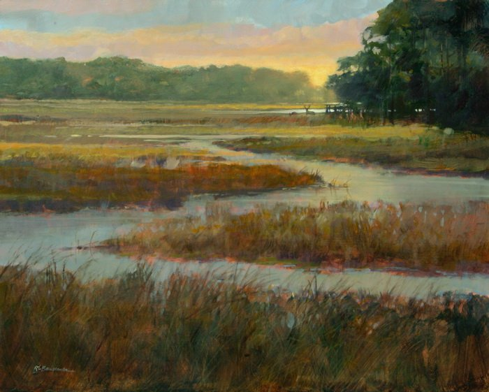 Deer in the Marsh