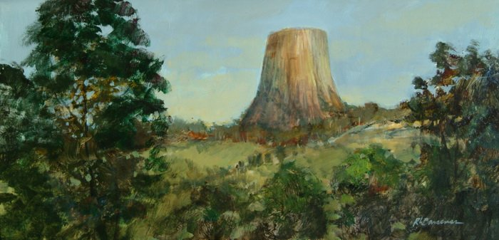 Devils Tower Morning from the Campground