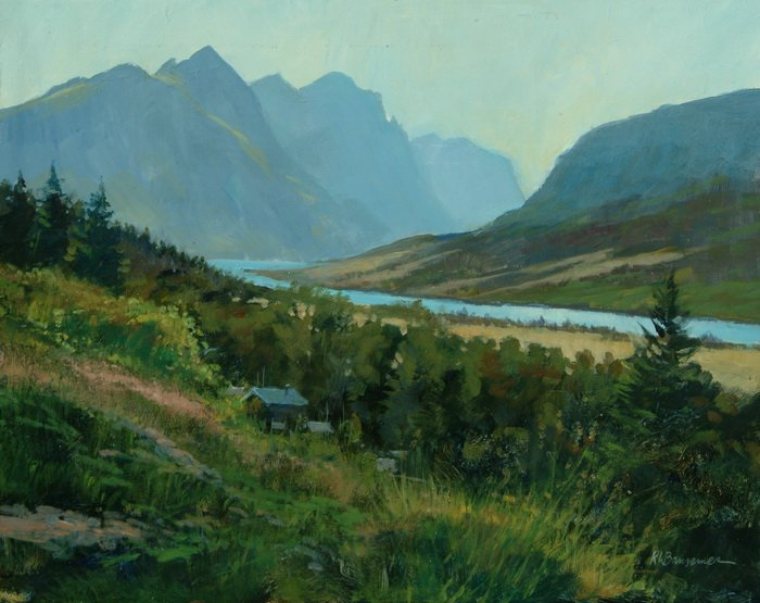 Glacier National Park from the Campground 11x14