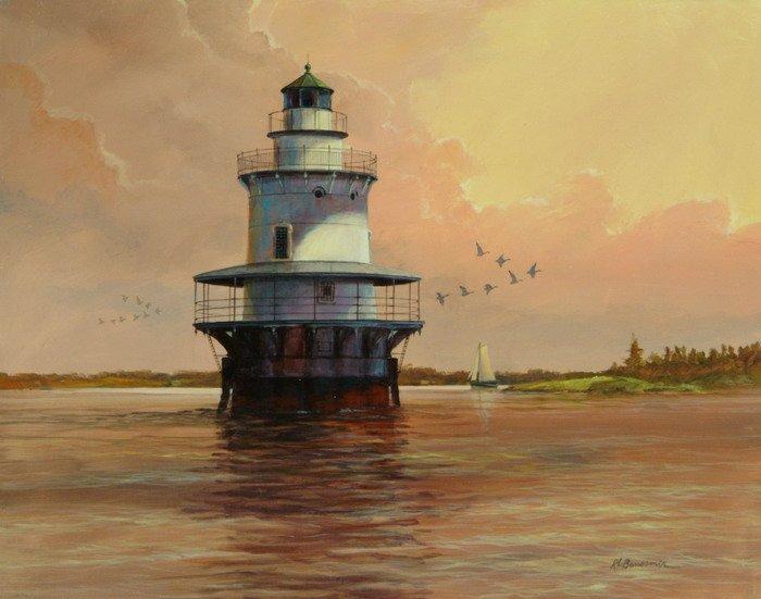 Goose Neck Lighthouse - Maine