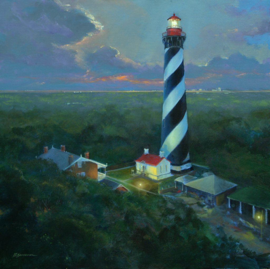 St Augustine Lighthouse Aloft 30x30