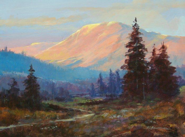 The Warm Mountain Sun 11x14