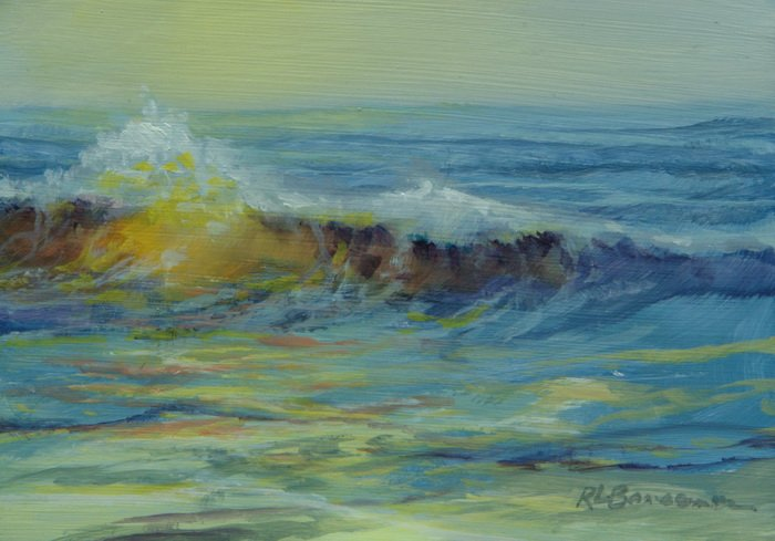 Yellow Wave 5x7